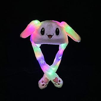 Кролик шляпа с движущихся ушей, симпатичный мультфильм игрушка шляпа, подушка безопасности Cap, дети плюшевые
