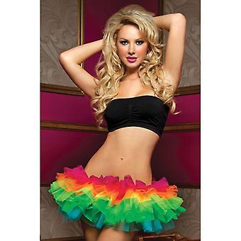 Ecstasy Multi-Layer Rainbow Tulle Tutu Skirt