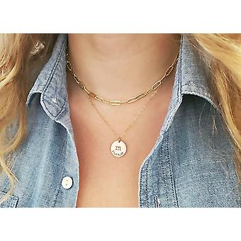 Gold Filled Regular Paperclip Chain Necklace