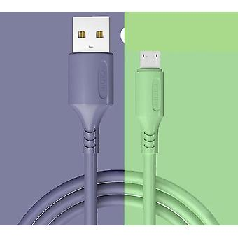 Lavender liquid rubber charger cable for usb c and micro usb