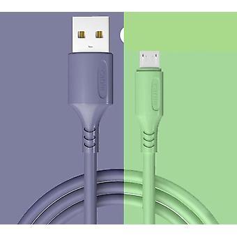 Lavendel flytande gummiladdare kabel för usb c och micro usb