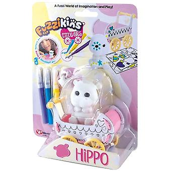 Fuzzikins Fuzzi Hippo and decorate their stroller and toy, for age 4 years and