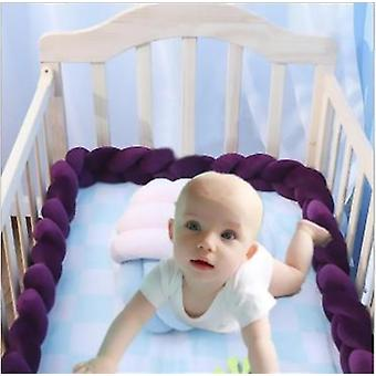 Baby Upholstery Woven Strip Knotted Ball Pillow Twist Braid Baby Bed Sleep Bumper Decoration Bed Surround