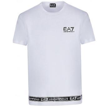 EA7 Hvit T-skjorte med logotape