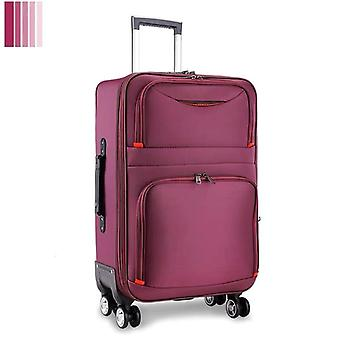 Travel Suitcase With Wheels Cabin Carry On Trolley Luggage Bag