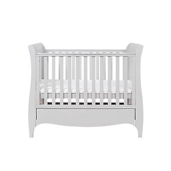 Tutti Bambini Roma Space Saver Sleigh Cot Bed with Drawer - Dove Grey