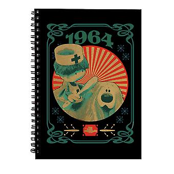 The Magic Roundabout Retro Brush Dougal Spiral Notebook