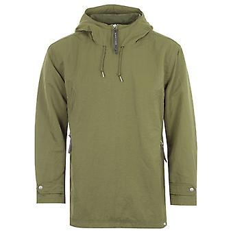 Pretty Green Crinkle Forrest Overhead Jacket - Khaki