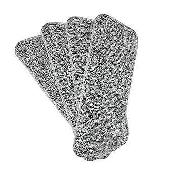 Swotgdoby 4pcs Mop Replacement Heads For Wet/dry Mops Flat Replacement Heads Reusable Mop Pads