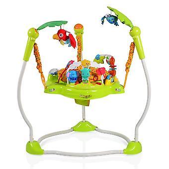 Baby Hopser Jungle 2 i 1, från 6 månader med Play Center, musik och ljuseffekter