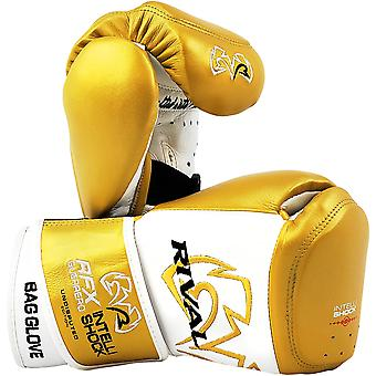Rival Boxing RFX-Guerrero Intelli-Shock Bag Gloves Undisputed Edition-White/Gold