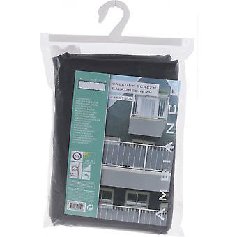 balkong blanding 445x76 cm polyester mørkegrå
