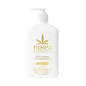 Hempz Milk & Honey Tanning Herbal Body Moisturizer Tanning Lotion - 500ml