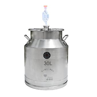 30l Hook Design Fermentation Barrel Home Wine Making Milk Barrel With Faucet