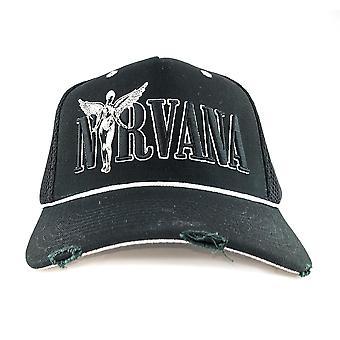 Amplified Nirvana In Utero Monochrome Trucker Cap