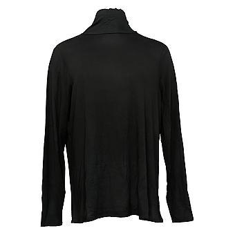 Laurie Felt Women's Top Reg Knit Long Sleeve Turtleneck Black  A343610