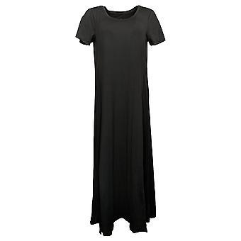 احتضان دودز فستان Flexwear قصيرة الأكمام ماكسي فستان أسود A373536