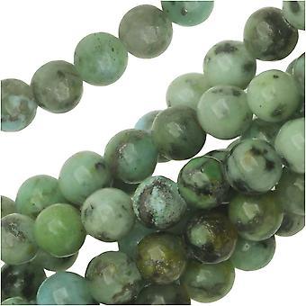Dakota Stones Gemstone Beads, African Turquoise, Round 4mm, 8 Inch Strand