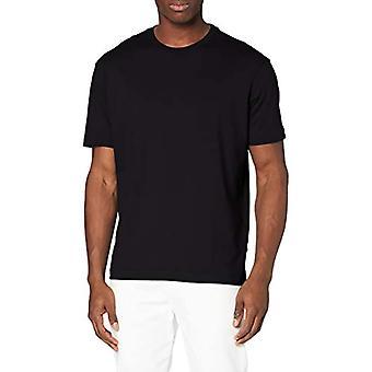 SELECTED HOMME SLHLOOSEGILMAN220 SS O-Neck Tee S Noos T-Shirt, Black, L Men