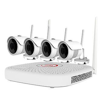 PNI Haus WiFi732 NVR Videoüberwachungskit 9 Kanäle 2MP und 4 drahtlose Outdoor-Kameras 2MP, P2P, IP66