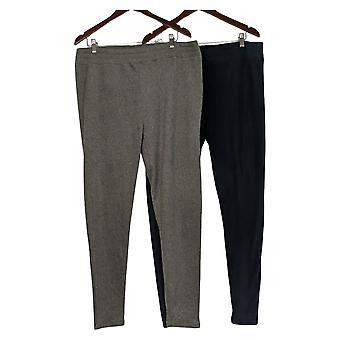 Cuddl Duds Leggings Reg Fleecewear Stretch Pack of 2 Gray A369295