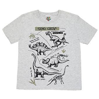 Popgear Girls Dino Crew Dinosaur Heather T-Shirt