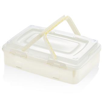 Herzberg enkelnivå hämtmat bakverk låda elfenben