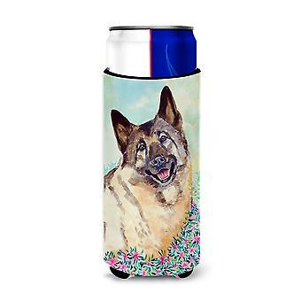 Norwegische Elkhound Ultra Getränkeisolatoren für schlanke Dosen 7231Muk