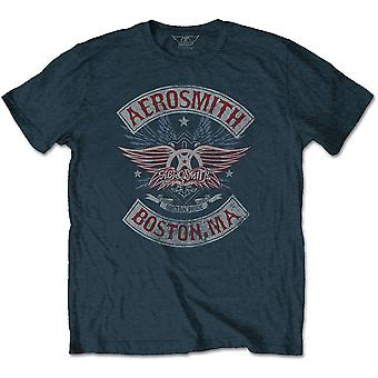 Aerosmith - Boston Pride Unisex Small T-Shirt - Blue