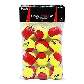 Uwinステージ3赤テニスボール - 12ボールのパック