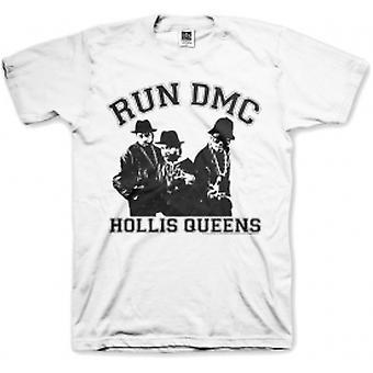 Run DMC Hollis Queen Pose White Mens T Shirt: Medium