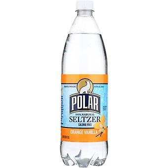 Polar Seltzer Seltzer Orange Vanilla, Case of 12 X 1 Liter