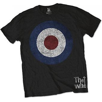 The Who - Target Distressed Men's Large T-Shirt - Svart