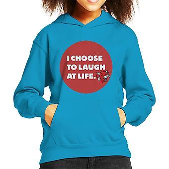 Den grinende ko jeg vælger at grine af Livet Kid's Hooded Sweatshirt