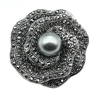Eleganckie panie broszka Rose Bud Corsage Diamond Retro Broszka Pin