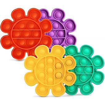 Flower Push Pop Bubble Sensory Fidget Toy