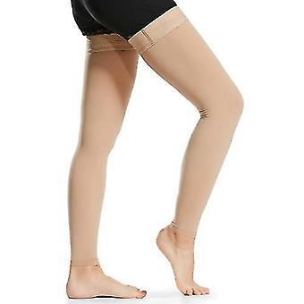 Sokker 1 par lår høj kompression sokker mænd kvinder 20-30mmhg kompression strømper kompression ærmer til åreknuder hævelse
