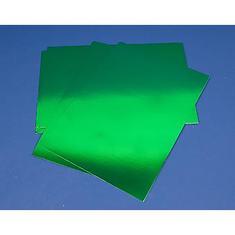10 Green A4 Metallic Foil Mirror Boards for Crafts 340 Micron   Coloured Card for Crafts