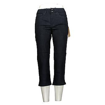 NYDJ Women's Petite Jeans Cool Embrace Skinny Crop w/ Side Slits Blue A377693