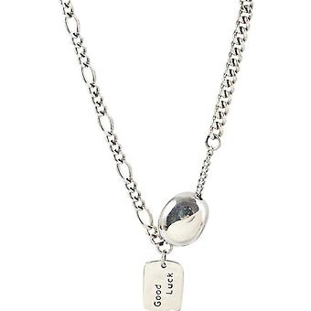 Silver plating Lucky Necklace for Women Party Fine Jewelry Gift Accessories Retro Style Pendants