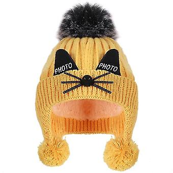 Winterins Earmuffs Warm Cute Cotton Knit Hat For And