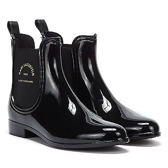 Karl Lagerfeld Kalosh Ikonic Mid Hi Shine Womens Black Boots