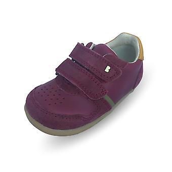 Bobux step up riley boysenberry & chartreuse shoes