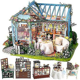 Poppenhuis accessoires cutebee diy poppenhuis kit houten poppenhuis miniatuur huis meubels kit casa muziek led speelgoed voor