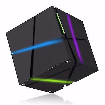 Speakers wireless portable hi fi player led square cube stereo bluetooth speakers black
