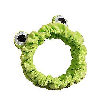 4PCS Frosch Stirnband Elastisch Lustige Make-up Haarband Wash Gesicht Breitkrempig Elastische Haarbänder Süß
