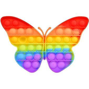 Push Pop It Fidget Spielzeug Silikon Schmetterling Multicolor Anti Stress Bubble Spielzeug