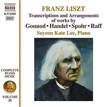 F. Liszt - Franz Liszt: Transkripsjoner og arrangementer av verker av Gounod, Händel, Spohr, importere Raff [DVD] USA