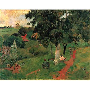 Paul Gauguin - Path in Trees Poster Print Giclee