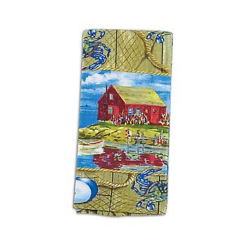 Nautical Boats and Buoys Blue Crab Shack Terry Towel